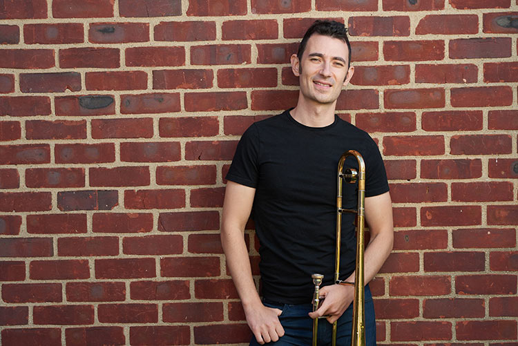 Trombonist Daniel Linden